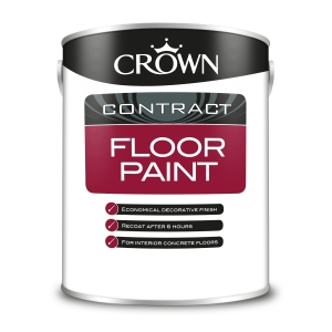 Crown Contract Crown Floor Paint Red 5L