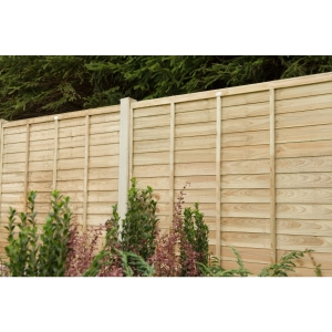 6ft x 5ft 1.83m x 1.52m Pressure Treated Superlap Fence Panel - Pack of 4