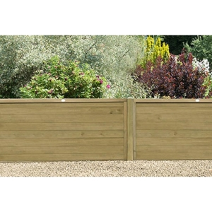 Pressure Treated Horizontal Tongue and Groove Fence Panel 4ft (1.83m x 1.22m) - Pack of 5