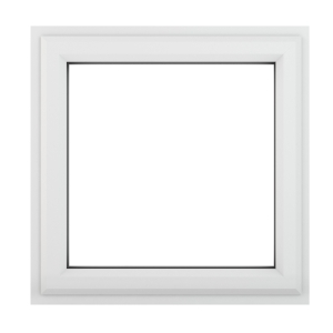 Crystal White Upvc Casement Clear Window 1P Top Opening 610 mm x 610 mm