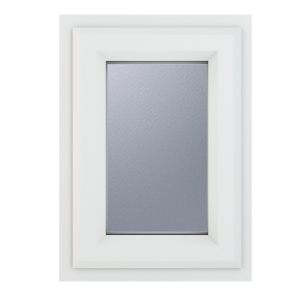 Crystal White Upvc Casement Obscure Window 1P Top Opening 440 mm x 610 mm