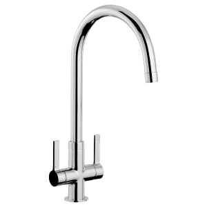 Abode Metix Dual Lever Flow Restricted Monobloc Sink Tap Chrome AT2076