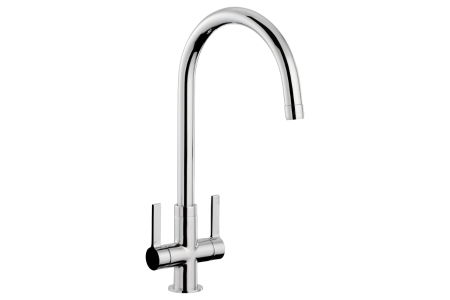Abode Metix Dual Lever Flow Restricted Monobloc Tap Chrome