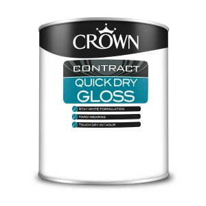 Crown Contract Crown Quick Dry Gloss Brilliant White 1L