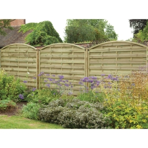 1.8m x 1.8m Pressure Treated Decorative Europa Domed Fence Panel Pack