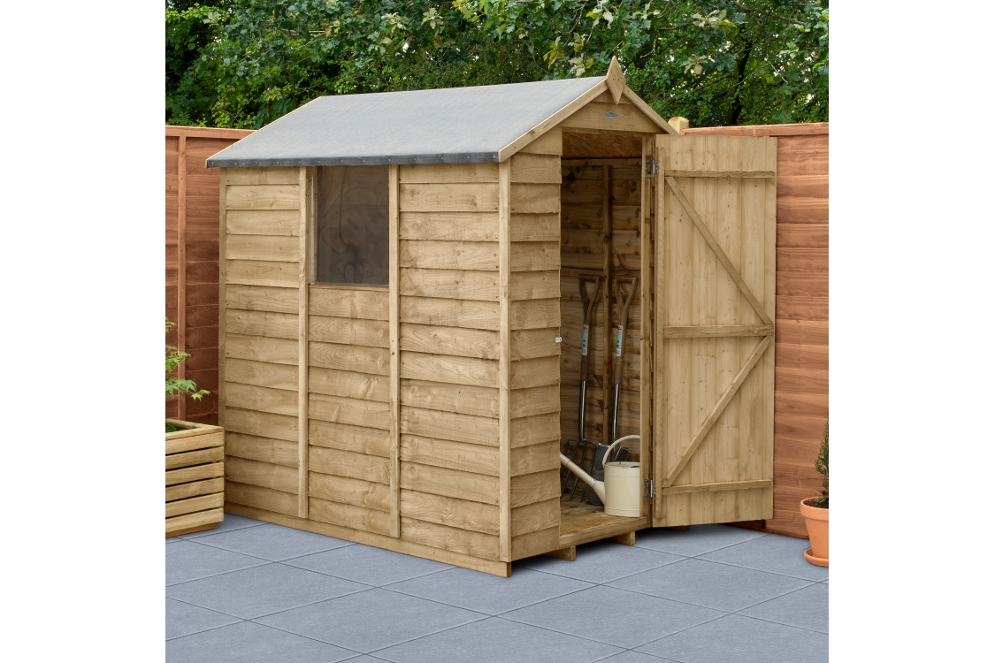Overlap Pressure Treated Apex Shed 6 ft x 4 ft