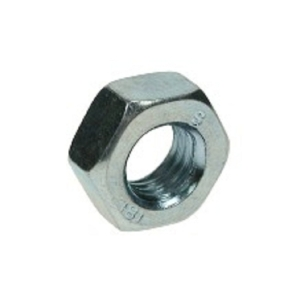 4TRADE Hexagon Full Nuts M6 Zp Pack of 10