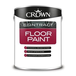 Crown Contract Crown Floor Paint Grey 5L