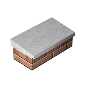 Supreme Once Weathered Coping Straight 355mm x 610mm - Pack of 30