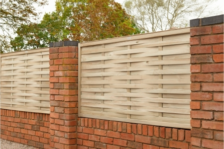 Pressure Treated Woven Fence Panel 1.8m x 0.91m - Pack of 4