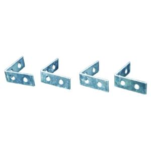 4Trade Corner Braces Zinc Plated Pack of 4 100mm
