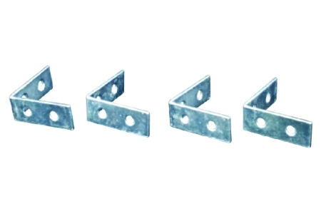 4Trade Corner Braces Zinc Plated Pack of 4 100mm