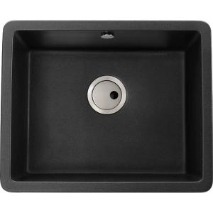 Abode Matrix Square 1 Bowl Undermount Black Composite Kitchen Sink