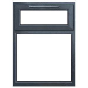 Euramax Grey Stippolyte Upvc Casement Window 2P Top Hung 1190 x 1040mm