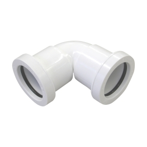 Osma 32mm Pushfit Waste White Knuckle Bend 90 Deg