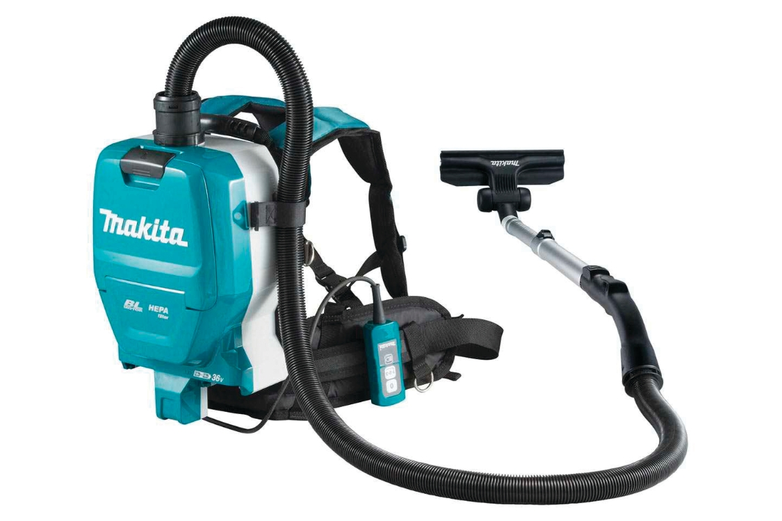 Makita DVC261ZX11 Twin 18V (36V) Lxt Brushless Hepa Backpack Vacuum Cleaner Body Only