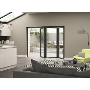 External Aluminium Grey Left Opening Bifold Door Set 2390mm wide