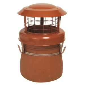 Mad High Birdguard Powder Coated Terracotta Chimney Cowl