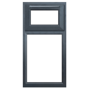 Euramax Grey Upvc Casement Window 2P Top Hung 610 x 1040mm