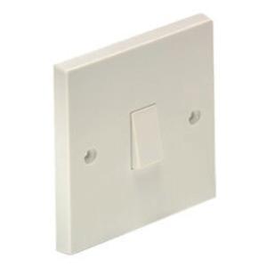 4Trade Light Switch 10 Amp 1 Gang 2 Way