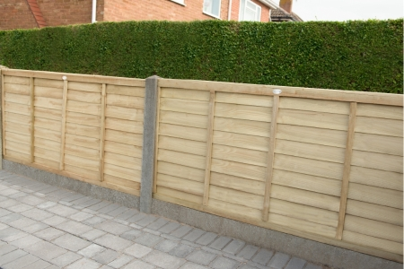 6ft x 3ft 1.83m x 0.91m Pressure Treated Superlap Fence Panel - Pack of 5