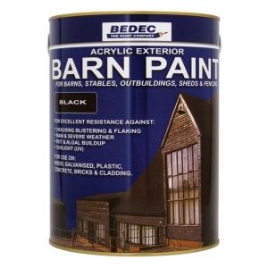 Bedec Barn Paint Black 5L