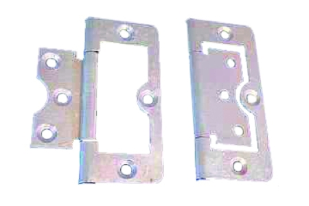 4Trade Hinges Flush 75mm Zinc Plated Pack of 2