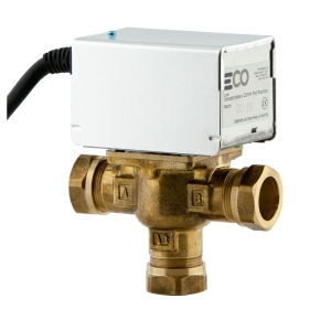 Eco TP-MID 3 Port Position Motorised Valve 22mm