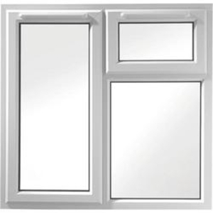 Euramax White Upvc Casement Window 3P Top and Left Side Hung 1190 x 1190mm