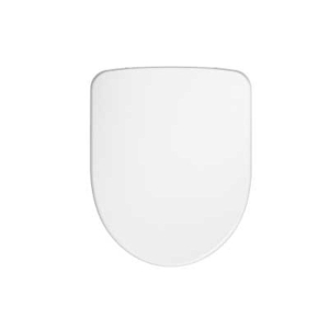 Twyford E100 Round WC Standard Seat & Cover Metal Bottom Hinge E17815WH