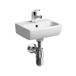 Twyford E100 Square Handrinse Basin 1 Tap 360mm x 280mm E14801WH