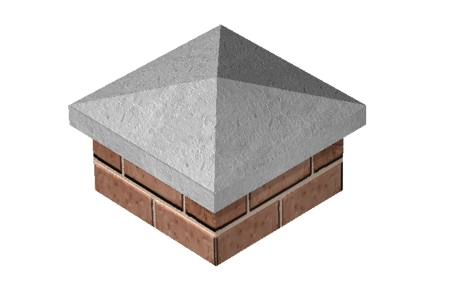 Supreme Concrete Pier Cap 530mm x 530mm - Pack of 10