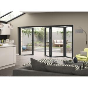External Aluminium Grey Right Opening Bifold Door Set 3990mm wide