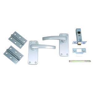 4Trade Manila Complete Latch Door Pack of Satin Anodised Aluminium