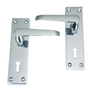 4TRADE Victorian Lever Lock Chrome
