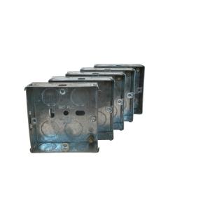 4TRADE 1 gang Metal Back Box 25mm
