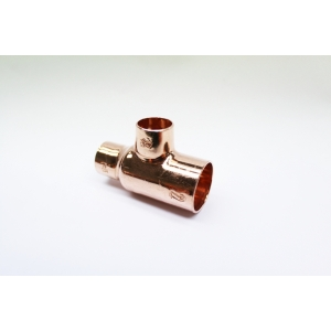 Copper Endfeed Tee Reduced End & Branch 22mmX 15mmX 15mm