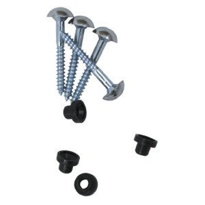 4TRADE Chrome Plated Mirror Screws 32mm x 8g (Pack of 4)