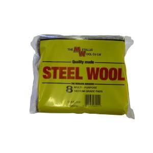 Metallic Wool Steel Wool 8 Pad Pack - Carton of 20