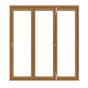 Slimline External Pre-finished Solid Oak Bifold Door Set