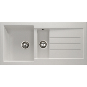 Abode Xcite 1.5 Bowl Inset White Composite Kitchen Sink