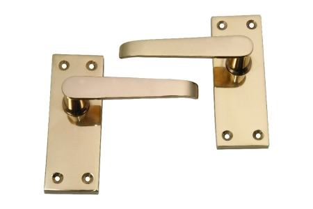 4trade Victorian Lever Latch Handle Brass