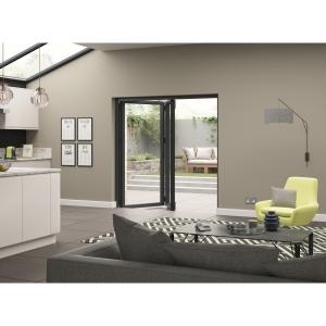 External Aluminium Grey Left Opening Bifold Door Set 1790mm wide