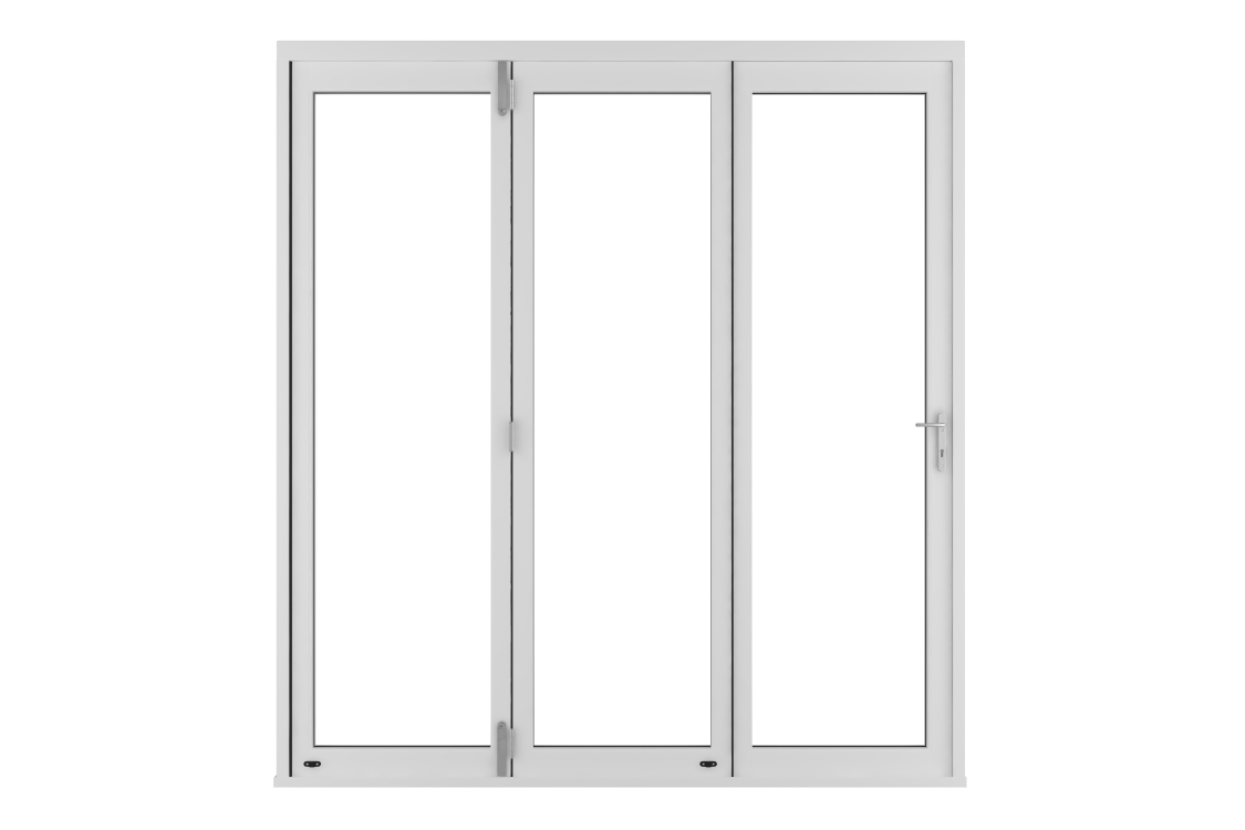 External Slimline Pre-finished White Bifold Door Set 1790mm wide