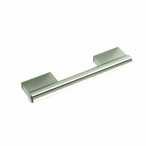 Keyhole Bar Handle (Stainless Steel Effect) 128mm Centre