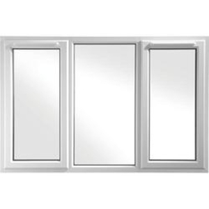 Euramax White Upvc Casement Window 3P Left and Right Side Hung 1770 x 1040mm