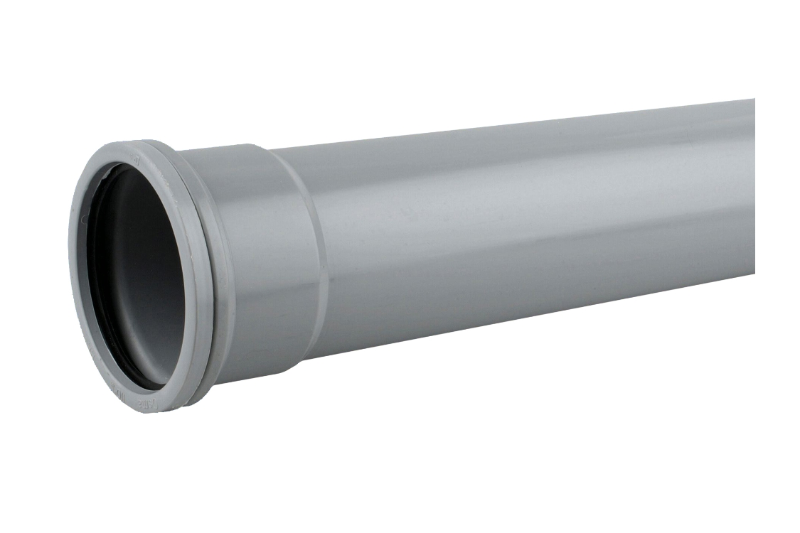 OsmaSoil 4S042G 110mm Socketed Pipe Grey 2M