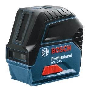 "Bosch Gcl 2-15 RM1 Combi Laser, Cross Line 2 Point Laser, RM1 Mount & Target Plate"""