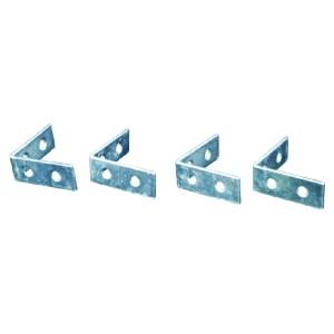 4Trade Corner Braces Zinc Plated Pack of 240mm