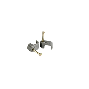 4TRADE Cable Clip 2.5mm Twin & Earth Grey PK100